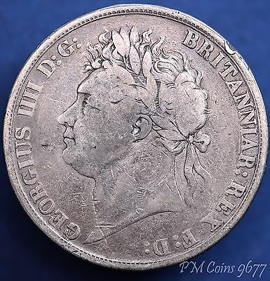 1821 George IV Crown, 5/- 5 shillings nice coin, Silver 925 *[9677]