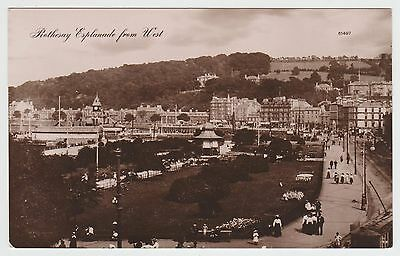 Rothesay Esplanade from West in ~1910 Real Photo PPC, VG Unused, X.L.No.61497