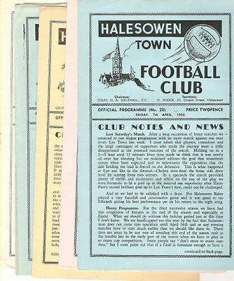HALESOWEN TOWN v Brush Sports  1949/50