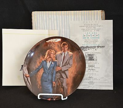 Indiana Jones And The Last Crusade With Dr. Schneider Collector Plate #3- Nib