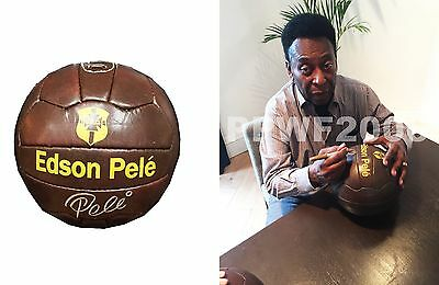 Pele Hand Signed Autographed Soccer Ball With Exact Picture Proof Coa Rare