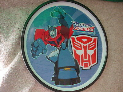 TRANSFORMERS OPTIMUS PRIME CHILD'S PLATE by ZAK DESIGNS 8 INCH FREE USA SHIPPING