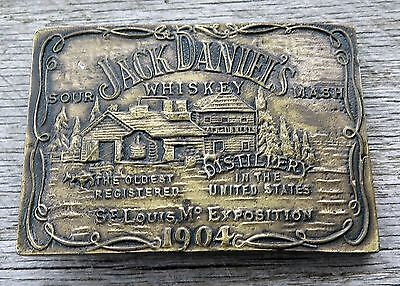 Jack Daniels Whiskey Distillery Alcohol Vintage Belt Buckle