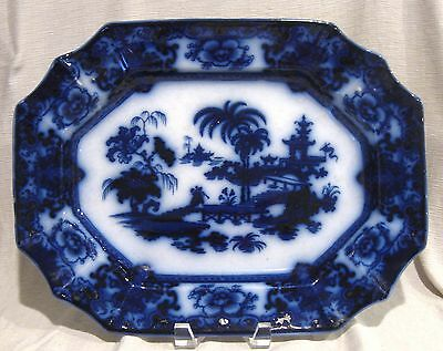 """T&R Boote Shapoo Flow Blue 15 1/2"""" Oval Serving Platter"""