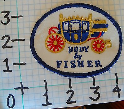 Vintage NOS BODY BY FISHER Car Patch from the 70's 001