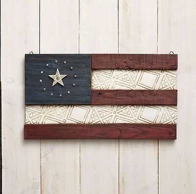 Jim Shore River's End Patriotic Old Glory Flag Wall Hanging Decoration 4056932
