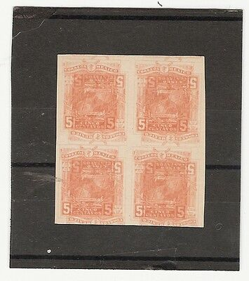 Mexico 1915 5 Cents Madero Imp Printed Waste Block Of Four H, Og