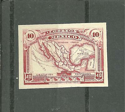 Mexico 1915 Proof 40 Cents Rose Red