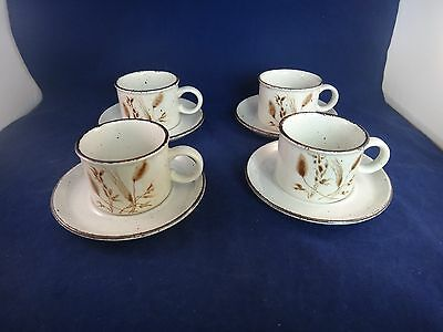 MIDWINTER Stonehenge WILD OATS Cups & Saucers ~SET OF 4 ~ MADE IN ENGLAND~