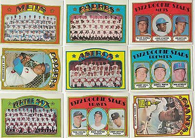 Topps 1972 Baseball Cards-Select from a list