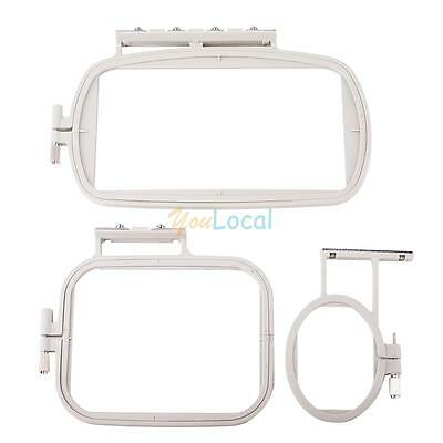 3x S-M-L Embroidery Hoop Set for Brother Embroidery SE400 PE500 LB6800 White