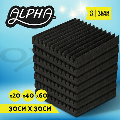 20 x40 x60 Studio Acoustic Foam Sound Absorbtion Proofing Panel Wedge 30X30CM