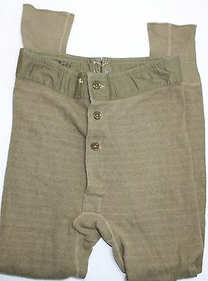 Original US WWII Army & AAF Issue Cold Weather Long John Underwear Bottom 1943