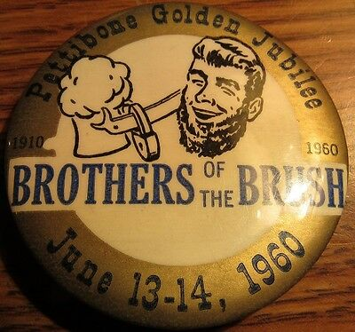 1960 Pettibone, ND 50th Anniversary Golden Jubilee Pinback Button - North Dakota