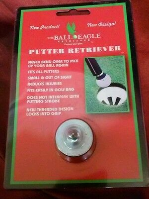 The Ball Eagle Putter Retriever (Golf Ball Pickup) Club Attachment NEW DESIGN