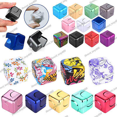 New Fidget Spinning Cube Square Spinner Toy EDC Hand Spinner Stress Relieve ADHD