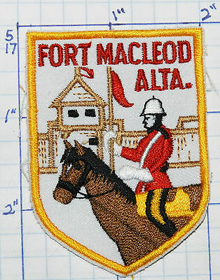 Canada, Fort Macleod Alberta Mounted Police Museum Vintage Souvenir Travel Patch