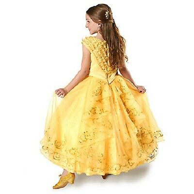 Disney Store Le Deluxe Belle Costume Dress Beauty And The Beast Live Action Sz 6