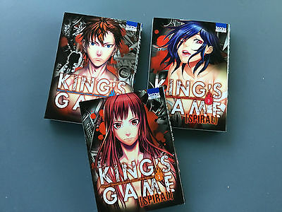 Lot 3 mangas King's Game Spiral Tome 1 à 3 Comme neuf TBE