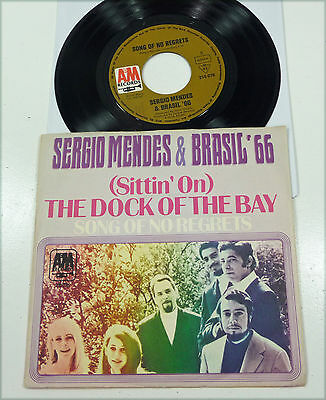 "SERGIO MENDES & BRASIL 66 - rare 1969 german A&M 7"" PS 45 ""Dock Of The Bay"" Otis"