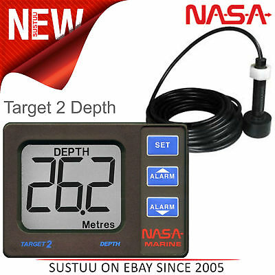 NASA Marine Target 2 Boat Depth Sounder Instrumentation with Transducer