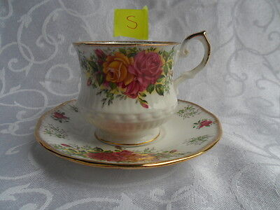 Queen's Shalford! (Old Country Rose design) 3 x Coffee Cups & Saucers