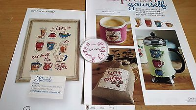 Cross Stitch Chart Types Of Coffee Sampler Chart Drinks  Chart