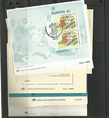 H128) Portugal+Azores 42Used Europa 1977/1994 Sheet