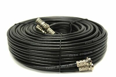 5m Metre Twin Satellite For Sky HD Q Extension Cable Lead Fitted Coax Shotgun