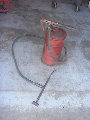 Vintage Graco Grease Pump  Gas Station  Lubester Barrel Dispenser Tool