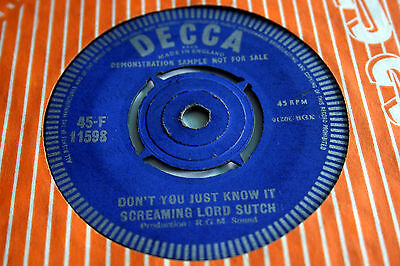 SCREAMING LORD SUTCH jack the ripper. uk 45 Decca 45-F 11598 DEMO. RGM Joe Meek