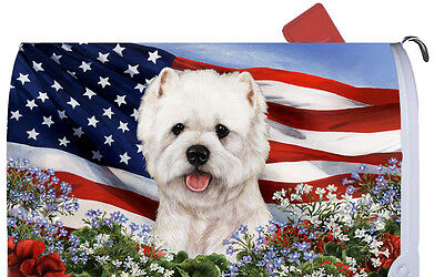 Patriotic Mail Box Cover - West Highland White Terrier Westie 09023