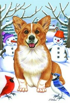 Garden Indoor/Outdoor Winter Flag - Corgi (TP) 610441