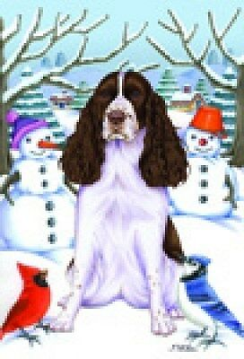 Garden Indoor/Outdoor Winter Flag - English Springer Spaniel (TP) 610801