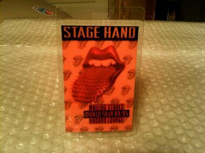 Rolling Stones Original Laminated Voodoo Lounge Backstage Pass 94/95 -Excellent