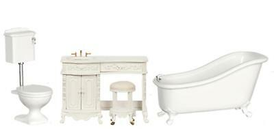 Dolls House White Avalon Bathroom Suite The Platinum Collection Furniture Set