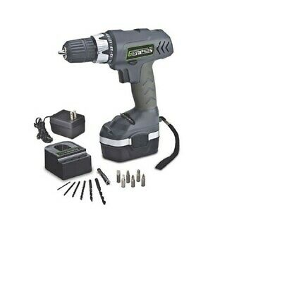 Genesis GCD18CP 18 Volt Cordless Drill / Driver With Battery Charger & 13 Bits