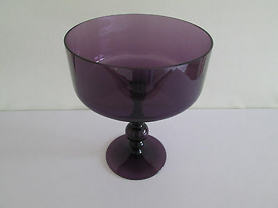 *wow* Rare Wedgwood Amethyst Large Pedestal Fruit Bowl Ronald Stennett-Willson