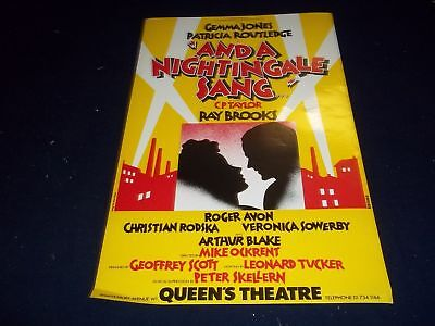 1979 And A Nightingale Sang Queens Theater Poster Gemma Jones Routledge - P 123