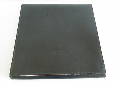 "*wow Bvlgari Bulgari Black Leather Jewellery Necklace Storage Case 7.75"" Squared"