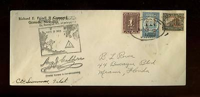 Nicaragua: First PAA flight to US (1929), pilot-signed + addr. Basil Rowe