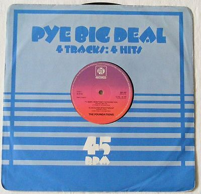 "FOUNDATIONS UK 1977 12"" Single Baby Now That I've Found You PYE BIG DEAL BD107"