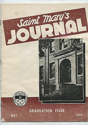 Old May 1949 Saint Mary's Journal University Halifax NS Graduation Issue