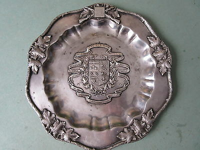 Old 1923 Silverplated Trophy Tray Canadian Rifle Shooting Colchester NS