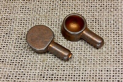 """2 cabinet adjustable shelf pins early 1900's old 5/16"""" diameter cast iron spoons"""