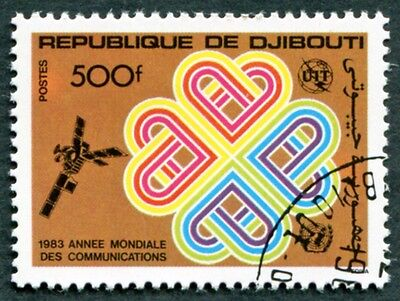 DJIBOUTI 1983 500f SG883 used NG World Communications Year e #W30