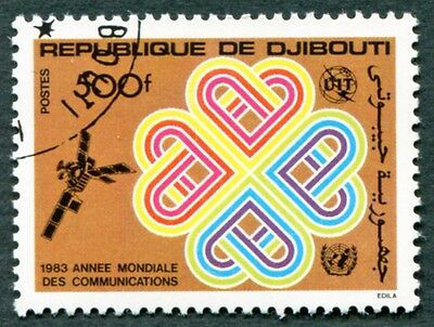 DJIBOUTI 1983 500f SG883 used NG World Communications Year c #W30