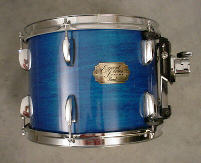 PEARL EXPORT 12x9 BLUE STAIN MOUNTED TOM DRUM, NICE CONDITION
