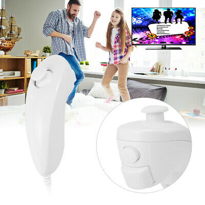 Game Nunchuck Nunchuk Controller Adapter for Nintendo Wii Console White AC798