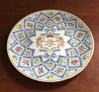 Royal Doulton~~H.R.H. Prince William of Wales Commemorative Birth Plate~LE #2056